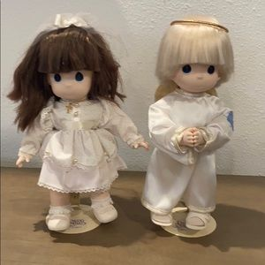 Lot of 2 Precious Moments Vintage dolls